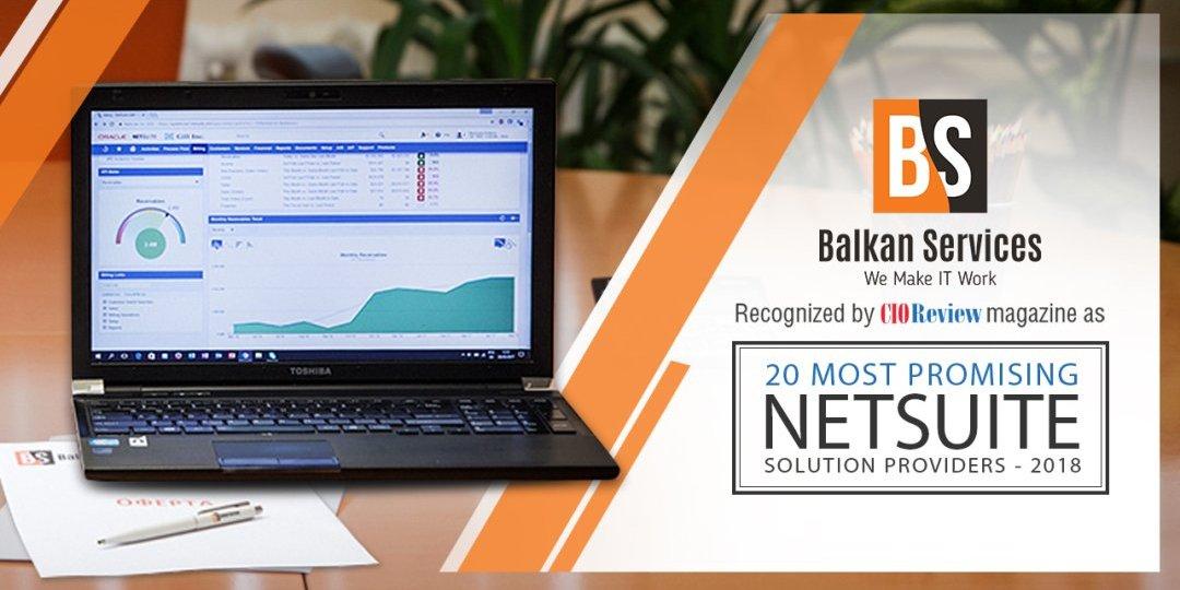 Balkan Services е класирана в Топ 20 най-обещаващи внедрители на Oracle NetSuite в световен мащаб  - Balkanservices.com