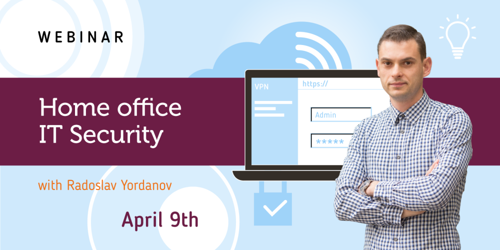 """Free webinar """"IT security measures for employees, working remotely""""  - Balkanservices.com"""
