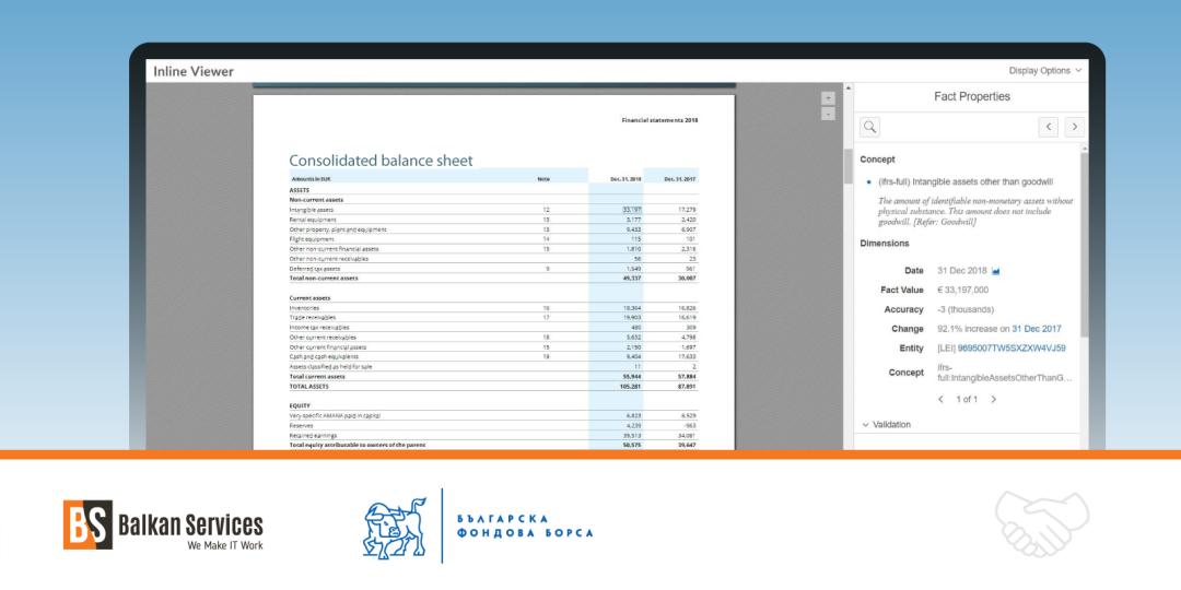 Balkan Services и БФБ предлагат съвместно решение за представяне на финансови отчети в XBRL формат - balkanservices.com