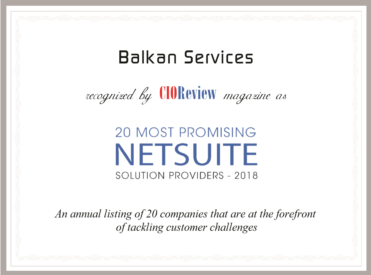Balkan Services certificate