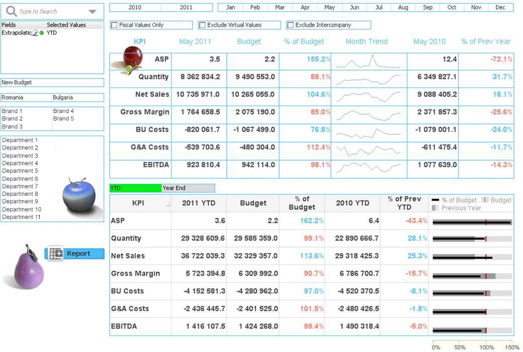 QlikView dashboard - Balkan Services