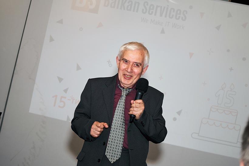 Теодосий Теодосиев, специален гост на 15-тия рожден ден на Balkan Services - balkanservices.com