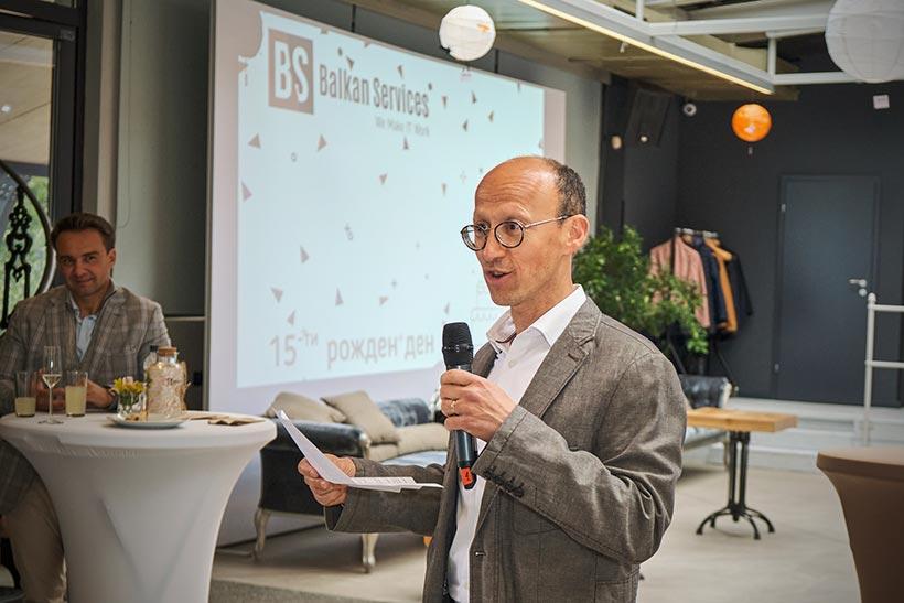 Обръщeние към гости на В. Рашев, управител на Balkan Services - balkanservices.com