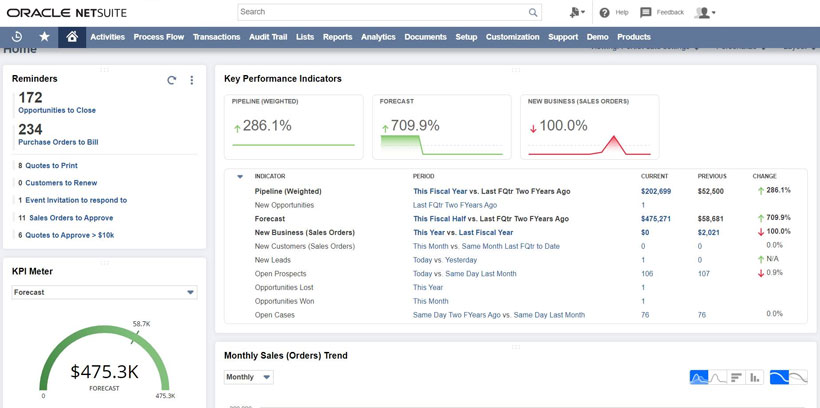 NetSuite Dashboard - balkanservices.com